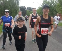 Thomas running Melbourne Marathon with Run Donna Run Donna Campisi inspiration