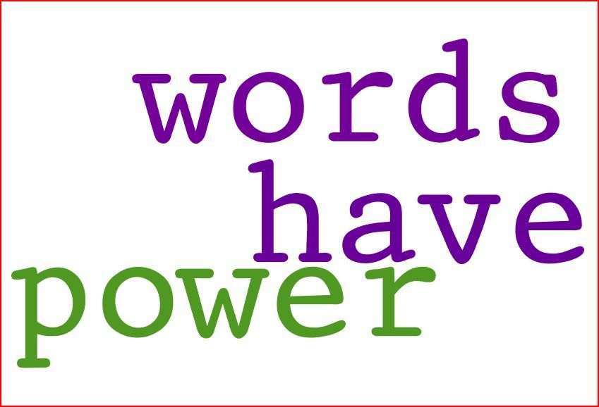 Words have Power Run Donna Run blog Donna Campis