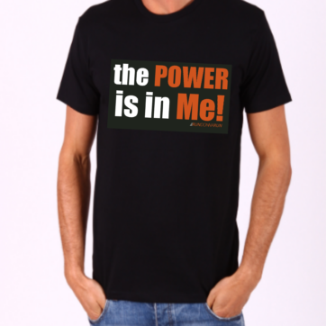 RunDonnaRun 'the POWER is in Me!' Men's tee