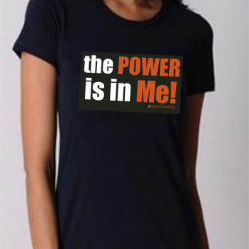 RunDonnaRun 'the POWER is in Me!' tee